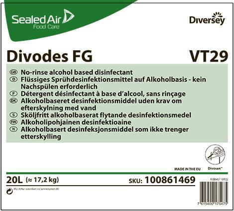 Divodes FG дезинфицирующее средство для пищевой промышленности